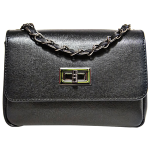 Mini Bag - Pelle Saffiano nero