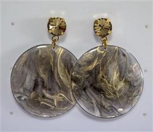 Dischi Grandi Resina - Nero e Oro con Swarovski