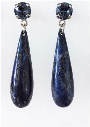 Gocce tonde blu marmor